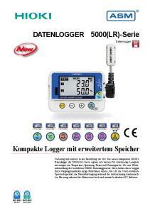 Kompakte Logger mit erweitertem Speicher. 5000(LR)-Serie DATENLOGGER. Datenlogger