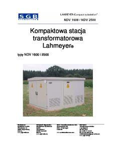 Kompaktowa stacja transformatorowa. Lahmeyer