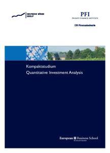 Kompaktstudium Quantitative Investment Analysis