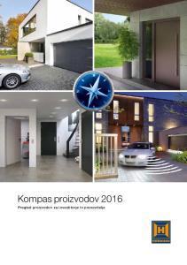 Kompas proizvodov Pregled proizvodov za investitorje in prenovitelje