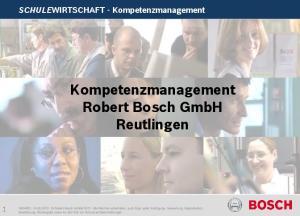 Kompetenzmanagement Robert Bosch GmbH Reutlingen