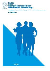 Kompetenzmodell der Kantonalen Verwaltung