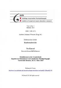 Konferenzbericht: Ute Konrad