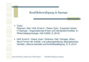 Konfliktbewältigung in Startups