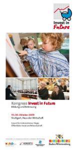 Kongress Invest in Future Bildung und Betreuung