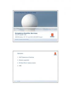 Kongsberg Satellite Services Arnulf A. Kjeldsen, COO