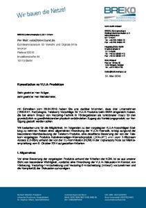 Konsultation zu VULA-Produkten