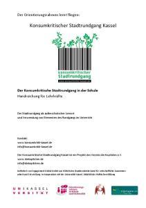 Konsumkritischer Stadtrundgang Kassel