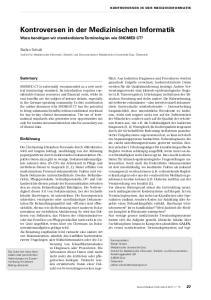 Kontroversen in der Medizinischen Informatik