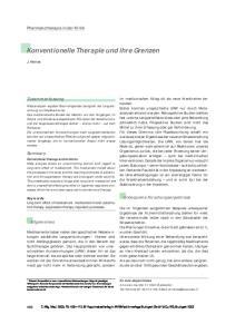 Konventionelle Therapie und ihre Grenzen