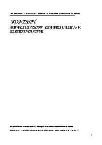 KONZEPT DAS BLAUE SCHIFF - LE BATEAU BLEU e.v. ELTERNINITIATIVE