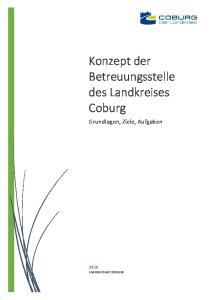 Konzept der Betreuungsstelle des Landkreises Coburg