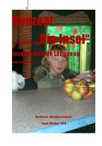 Konzept Die Insel. Inselgemeinde Langeoog. Jugendhaus. Verfasser: Christina Seppelt