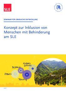 Konzept zur Inklusion von Menschen mit Behinderung am SLE