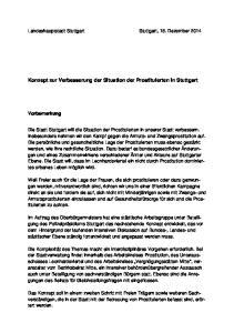Konzept zur Verbesserung der Situation der Prostituierten in Stuttgart