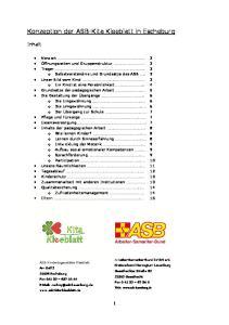 Konzeption der ASB-Kita Kleeblatt in Escheburg