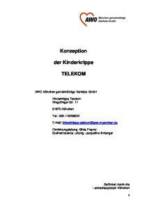 Konzeption. der Kinderkrippe TELEKOM