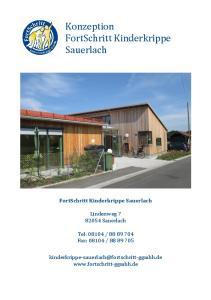 Konzeption FortSchritt Kinderkrippe Sauerlach