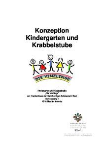 Konzeption Kindergarten und Krabbelstube. Die Vinzlinge am Krankenhaus der Barmherzigen Schwestern Ried Schlossberg Ried im Innkreis