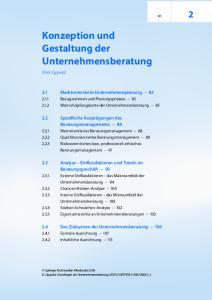 Konzeption und Gestaltung der Unternehmensberatung