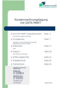 Konzernrechnungslegung mit DATA MART