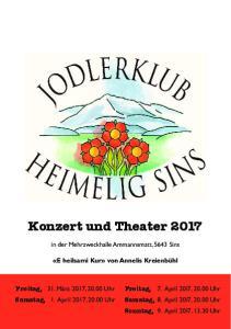 Konzert und Theater 2017