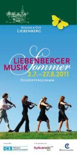 Konzertprogramm Veranstalter: In Kooperation mit: