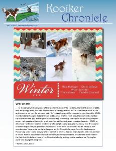 Kooiker Chronicle Vol. 16 No.1, January-February 2015