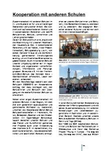 Kooperation mit anderen Schulen
