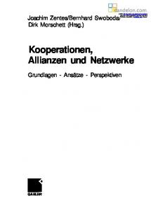 Kooperationen, Allianzen und Netzwerke