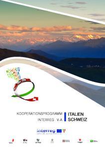 KOOPERATIONSPROGRAMM INTERREG V-A ITALIEN SCHWEIZ