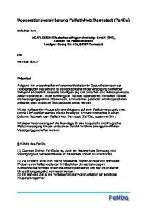 Kooperationsvereinbarung PalliativNetz Darmstadt (PaNDa)