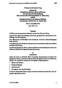 Kooperationsvertrag. Vom 12. Dezember 2012 (ABl S. 3)