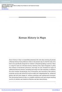 Korean History in Maps