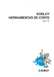 KORLOY HERRAMIENTAS DE CORTE