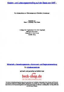 Kosten- und Leistungscontrolling auf der Basis von NKF -
