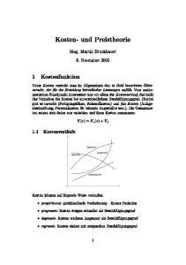 Kosten- und Preistheorie