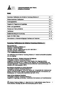 Kostenlose Publikationen der Alzheimer Forschung Initiative e.v.: