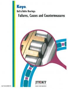 Koyo JT KT. Ball & Roller Bearings: Failures, Causes and Countermeasures CA T.NO.B300 1 E JTEKT CORPORATION