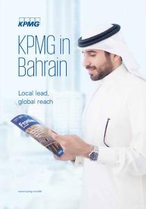 KPMG in Bahrain. Local lead, global reach