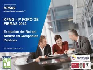 KPMG - IV FORO DE FIRMAS 2012