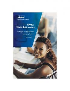 KPMG We Build Leaders