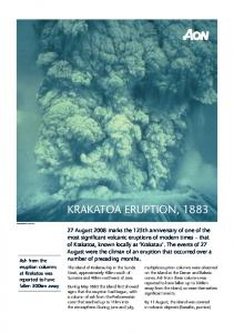 Krakatoa Eruption, 1883