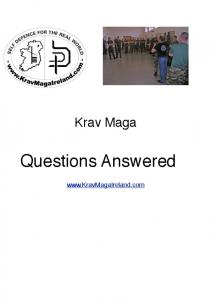Krav Maga. Questions Answered