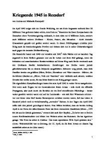 Kriegsende 1945 in Reesdorf