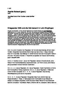 Kriegsende 1945 und die Zeit danach in Lahr-Dinglingen