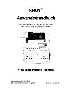 KROY Anwenderhandbuch