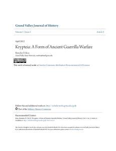 Krypteia: A Form of Ancient Guerrilla Warfare
