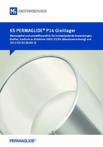 KS PERMAGLIDE P14 Gleitlager