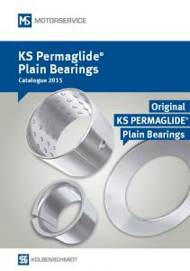 KS Permaglide Plain Bearings Catalogue Original KS PERMAGLIDE Plain Bearings